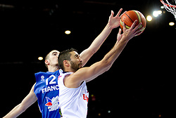 Nando de Colo of France vs Juan Carlos Navarro of Spain during final basketball game between National basketball teams of Spain and France at FIBA Europe Eurobasket Lithuania 2011, on September 18, 2011, in Arena Zalgirio, Kaunas, Lithuania. (Photo by Vid Ponikvar / Sportida)