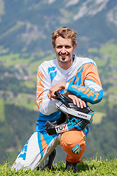 04.08.2016, Bikepark, Schladming, AUT, OeSV, Nordische Kombination, Mountainbike, Fototermin, im Bild Lukas Klapfer // Lukas Klapfer during a Photoshooting of Austrian Nordic Combined Team at the Bikepark, Schladming, Austria on 2016/08/04. EXPA Pictures © 2016, PhotoCredit: EXPA/ Dominik Angerer