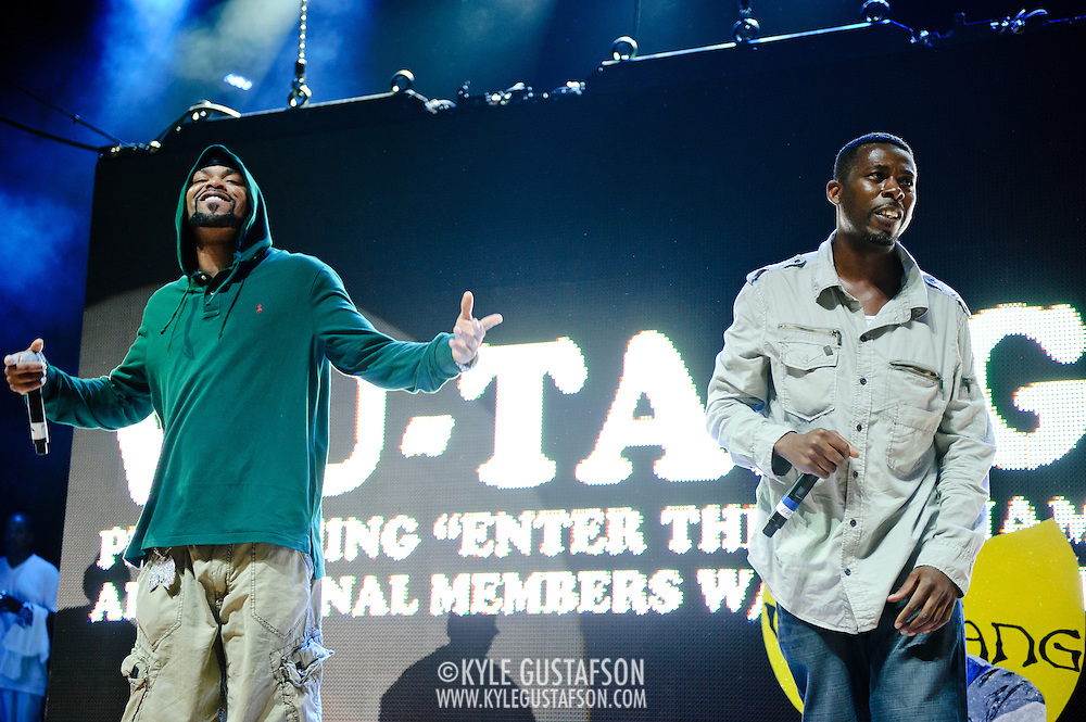 Columbia, MD - August 30th, 2010:  All the members of the Wu-Tang Clan showed up for their performance, including Method Man and GZA . (Photo by Kyle Gustafson/For The Washington Post)