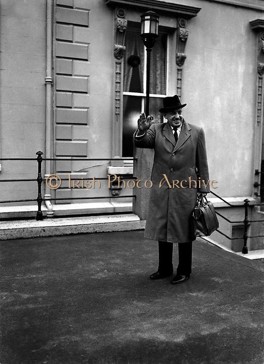 Sean Lemass, Taoiseach..1960..08.11.1960..11.08.1960..8th November 1960..Image of An Taoiseach Sean Lemass.