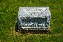 Hittle Grove Cemetery near Armington in Tazwell County.<br /> <br /> Winfield S Blair Soldier