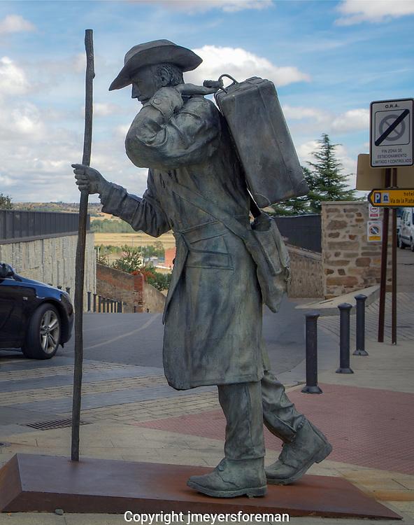 pilgrim statue Astorga