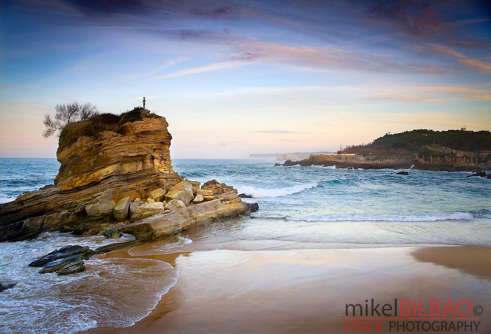 Camel beach. Santander, Cantabria, Spain.