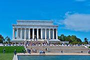 Lincoln Memorial, Reflecting Pond, National Mall, Washington DC, Nations Capital, USA,