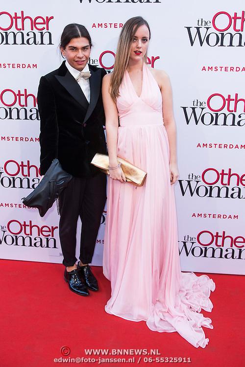 NLD/Amsterdam//20140401 - Filmpremiere The Other Woman, Bradley Miles en Lindsey Sijmons