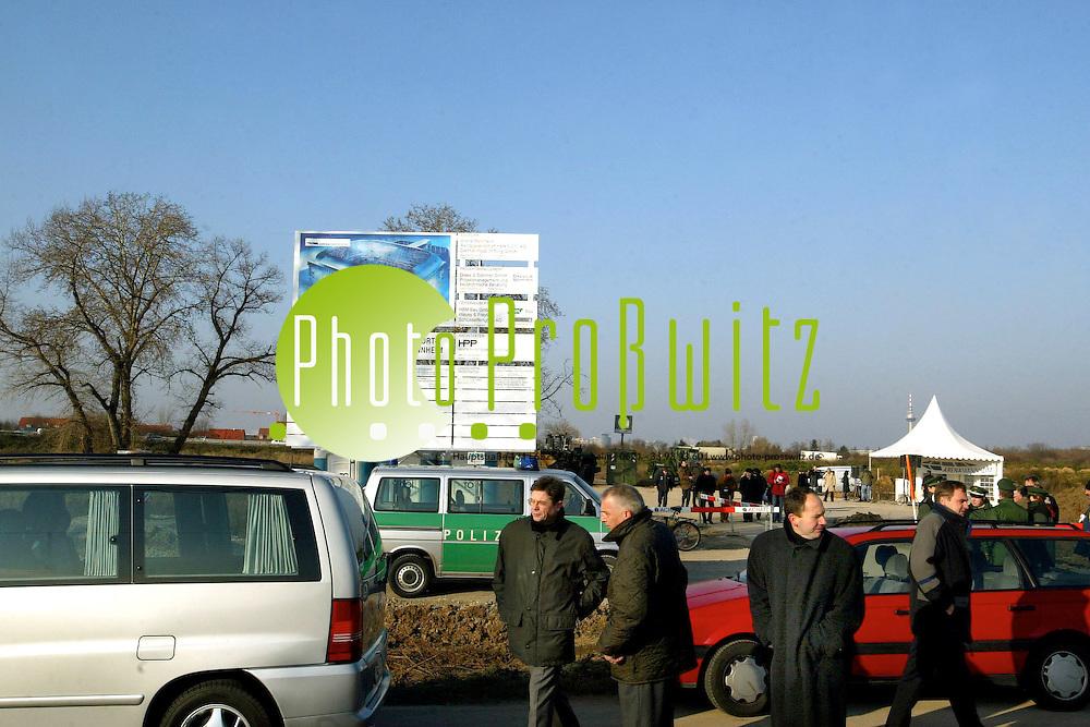 Mannheim.  Spatenstich. B&ouml;sfeld. Arena - Panorama<br /><br />Bild: Pro&szlig;witz