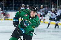 KELOWNA, CANADA - MARCH 18:  Dallon Wilton #15 of the Kelowna Rockets warms up against the Vancouver Giants on March 1, 2018 at Prospera Place in Kelowna, British Columbia, Canada.  (Photo by Marissa Baecker/Shoot the Breeze)  *** Local Caption ***