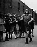 East End girl dancing Lambeth Walk, 1939