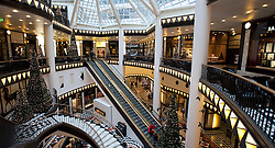 Interior view of beautiful elegant atrium inside Quartier 206 upmarket shopping mall on Friedrichstrasse in Mitte Berlin 2009