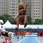 Keila Da Silva Costa, Brazil, in action during the Women's long Jump competiton during the Diamond League Adidas Grand Prix at Icahn Stadium, Randall's Island, Manhattan, New York, USA. 13th June 2015. Photo Tim Clayton