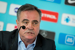 Tomaz Kavcic, selector of Slovenian National Football team during Press Conference of Slovenian Football Association (NZS) before friendly matches with Austrian and Belarus national teams<br /> , on March 14, 2018 in National Football Centre, Brdo pri Kranju, Kranj, Slovenia. Photo by Ziga Zupan / Sportida