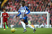 Brighton and Hove Albion midfielder Yves Bissouma (8) during the Premier League match between Liverpool and Brighton and Hove Albion at Anfield, Liverpool, England on 30 November 2019.