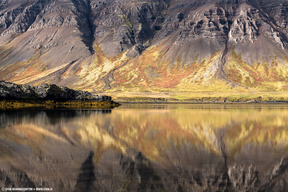 Hraunsfjordur in west-Iceland Snaefellsnes