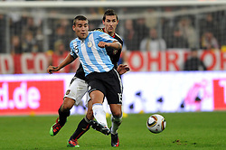 03.03.2010, Allianz Arena Muenchen, Muenchen, GER,  Laenderspiel Deutschland ( GER ) - Argentinien ( ARG ) 0 - 1. Im Bild Nicolas Otamendi ( ARG #15 ), Miroslav Klose ( GER /  Bayern #11). EXPA Pictures © 2010, PhotoCredit: EXPA/ nph/  Kurth / for Slovenia SPORTIDA PHOTO AGENCY.
