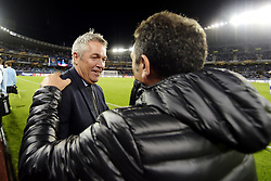 September 14, 2017 - San Sebastian, SPAIN - 170914 KÃ¥re Ingebrigtsen, head coach of Rosenborg, and Eusebio Sacristan, head coach of Real Sociedad, before the UEFA Europa League match between Real Sociedad and Rosenborg on September 14, 2017 in San Sebastian..Photo: Vegard Wivestad Grøtt / BILDBYRÃ…N / kod VG / 170013 (Credit Image: © Vegard Wivestad GrØTt/Bildbyran via ZUMA Wire)