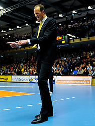 30-03-2013 VOLLEYBAL: LANDSTEDE VOLLEYBAL - ABIANT LYCURGUS: ZWOLLE<br /> 5de Play-off finale best of 5 - Trainer coach Redbad Strikwerda<br /> &copy;2013-FotoHoogendoorn.nl