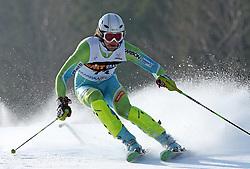 Miha Kuerner at first run of 9th men's slalom race of Audi FIS Ski World Cup, Pokal Vitranc,  in Podkoren, Kranjska Gora, Slovenia, on March 1, 2009. (Photo by Vid Ponikvar / Sportida)