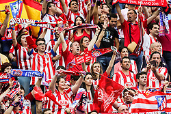28-05-2016 ITA, UEFA CL Final, Atletico Madrid - Real Madrid, Milaan<br /> Supporters of Atletico prior to the football match between Real Madrid (ESP) and Atlético de Madrid (ESP<br /> <br /> ***NETHERLANDS ONLY***