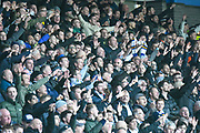 Leeds United fans during the EFL Sky Bet Championship match between Huddersfield Town and Leeds United at the John Smiths Stadium, Huddersfield, England on 7 December 2019.