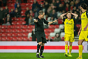 Referee Robert Lewis awards a penalty kick to Sunderland during the EFL Sky Bet League 1 match between Sunderland and Burton Albion at the Stadium Of Light, Sunderland, England on 26 November 2019.