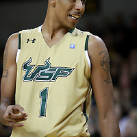 USF Bulls Forward Ron Anderson Jr. during the NCAA basketball game against the UCF Knights  at the UCF Arena on November 18, 2010 in Orlando, Florida. UCF won the game 65-59. (AP Photo/Alex Menendez)