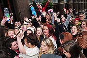 10.MARCH.2011. LIVERPOOL<br /> <br /> BIEBER FEVER TAKES OVER LIVERPOOL AS HUNDREDS OF JUSTIN BIEBER FANS SURROUND THE HARD DAYS NIGHT HOTEL HE IS CURRENTLY STAYING IN WHICH WAS MADE FAMOUS BY THE BEATLES WHILST JUSTIN SNEAKS OUT OF THE BACK ENTRANCE.<br /> <br /> BYLINE: EDBIMAGEARCHIVE.COM<br /> <br /> *THIS IMAGE IS STRICTLY FOR UK NEWSPAPERS AND MAGAZINES ONLY*<br /> *FOR WORLD WIDE SALES AND WEB USE PLEASE CONTACT EDBIMAGEARCHIVE - 0208 954 5968*