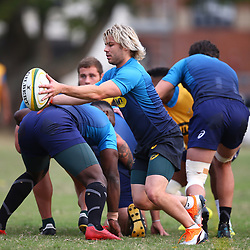 DURBAN, SOUTH AFRICA - AUGUST 13: Faf de Klerk during the South African national rugby team training session at  Jonsson Kings Park on August 13, 2018 in Durban, South Africa. (Photo by Steve Haag/Gallo Images)