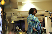 """December 21, 2013-New York, NY-At a homeless persons' memorial service in Harlem, Ava Connor performed an original song. """"My heart is in pain, and my soul I know not where,"""" she sang. 12/21/2013-Photo by Rosa Goldensohn//NYCity Photo Wire"""