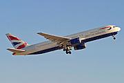 British Airways commercial flight