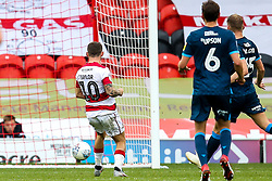 Jon Taylor of Doncaster Rovers scores a goal to make it 2-0 - Mandatory by-line: Robbie Stephenson/JMP - 19/10/2019 - FOOTBALL - The Keepmoat Stadium - Doncaster, England - Doncaster Rovers v Bristol Rovers - Sky Bet League One