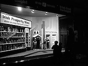 """14/11/1966<br /> 11/14/1966<br /> 14 November 1966<br /> Food Fortnight window display at N.A.I.D.A., St. Stephen's Green, Dublin.  Display announcing the """"Irish Food Fortnight"""" (Nov. 7-19) opened. Window """"depicts the importance to the housewife in her selection of food products of Irish manufacture, so that capital remains in the country's industry"""". The display was constructed by Modern Display Artists."""