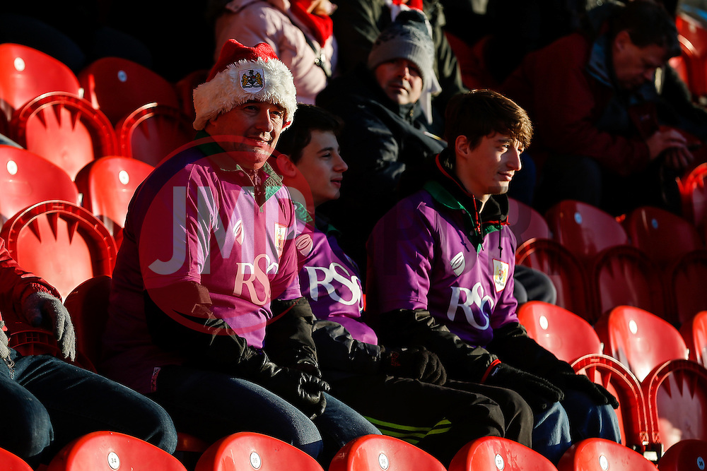 Bristol City fans in the stands - Photo mandatory by-line: Rogan Thomson/JMP - 07966 386802 - 03/01/2015 - SPORT - FOOTBALL - Doncaster, England - Keepmoat Stadium - Doncaster Rovers v Bristol City - FA Cup Third Round Proper.