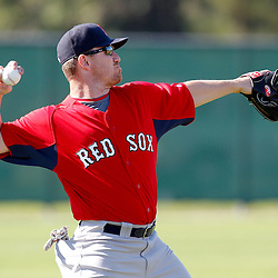 February 23, 2011; Fort Myers, FL, USA; Boston Red Sox right fielder J.D. Drew (7) during spring training at the Player Development Complex.  Mandatory Credit: Derick E. Hingle
