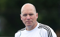 UTRECHT - De Duitse bondscoach Markus Weise, zaterdag tijdens de  hockey interland tussen de mannen van Nederland en Duitsland (4-2). COPYRIGHT KOEN SUYK
