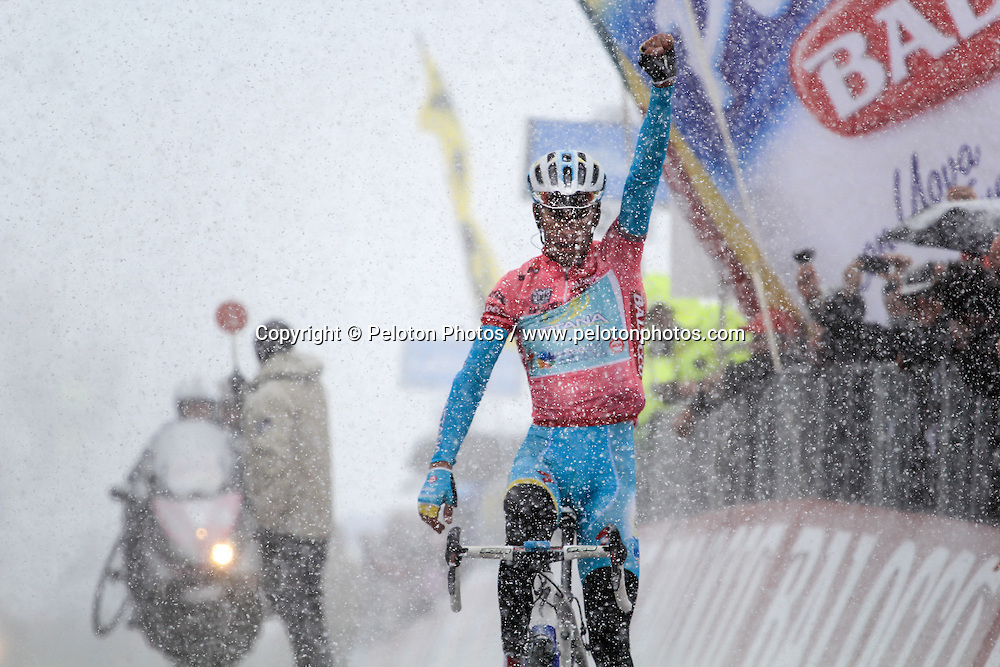 Vincenzo Nibali (ITA) of Astana wins Stage 20 at Giro d'Italia, Tre Cimi, Italy, 25 May 2013, Photo by Thomas van Bracht / www.pelotonphotos.com