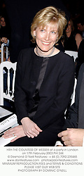 HRH THE COUNTESS OF WESSEX at a party in London on 17th February 2003.PHI 244