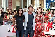 Giffoni Valle Piana (SA) 17.07.2012 - Giffoni Film Festival 2012. Roberto Farnesi, Anna Safroncik e Giorgia Wurth sul red carpet. Foto Giovanni Marino