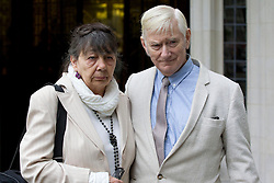 © Licensed to London News Pictures. 09/10/2013. London, UK. Guest house owners Peter and Hazelmary Bull are seen outside the Supreme Court in Westminster after the start of their appeal against a ruling that awarding damages to a gay couple who were refused a double room by the Bulls. Mr and Mrs Bull, deny discriminating against Martyn Hall and his partner Stephen Priddy, but say they think sex outside of marriage is a sin.Photo credit: Matt Cetti-Roberts/LNP