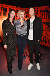 "Mary McCartney, Camilla Al Fayed and Arthur Donald at ""Hoping For Palestine"" Benefit Concert For Palestinian Refugee Children held at The Roundhouse, Chalk Farm Road, England. 04 June 2018. <br /> Photo by Dominic O'Neill/SilverHub 0203 174 1069/ 07711972644 - Editors@silverhubmedia.com"
