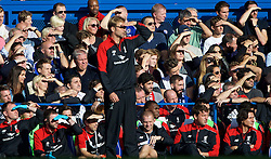 LONDON, ENGLAND - Saturday, October 31, 2015: Liverpool's manager Jürgen Klopp during the Premier League match against Chelsea at Stamford Bridge. (Pic by Lexie Lin/Propaganda)