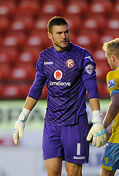 Walsall's Richard O'Donnell cuts a dejected figure - Photo mandatory by-line: Dougie Allward/JMP - Mobile: 07966 386802 26/08/2014 - SPORT - FOOTBALL - Walsall - Bescot Stadium - Walsall v Crystal Palace - Capital One Cup
