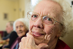 An elderly women in a Day centre in Rotherham