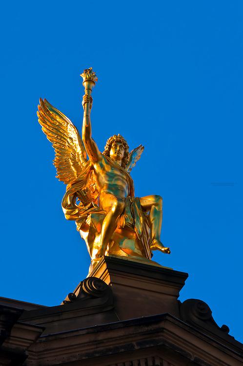 Gold statue, Dresden, Saxony, Germany