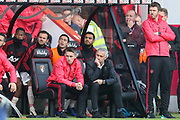 Manchester United Manager Jose Mourinho looks dejected during the Premier League match between Bournemouth and Manchester United at the Vitality Stadium, Bournemouth, England on 3 November 2018.