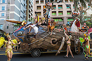 An elaborate float and performers at the Dream Parade. The Dream Parade is an annual arts carnival and street parade that takes place in Taipei. The event is the brainchild of real estate developer Gordon Tsai who founded the Dream Community after being inspired by simialr events in other parts of the world.