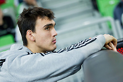 Dario Saric of Cibona during basketball match between KK Union Olimpija Ljubljana and KK Cibona Zagreb (CRO) in 11th Round of ABA League 2012/13 on December 2, 2012 in Arena Stozice, Ljubljana, Slovenia. Union Olimpija defeated Cibona 87-82. (Photo By Vid Ponikvar / Sportida)