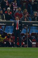 31.01.2013 SPAIN - Copa del Rey 12/13 Matchday 1/4  match played between Atletico de Madrid vs Sevilla Futbol Club (2-1) at Vicente Calderon stadium. The picture show Unai Emery Etxegoien (Coach of Sevilla F.C.)