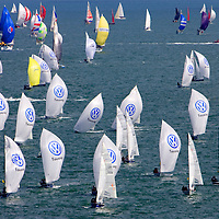 Isle of Wight, Cowes Week 2007, SB3, Royal Yacht Squadron, spinnakers Photographs of the Isle of Wight by photographer Patrick Eden photography photograph canvas canvases