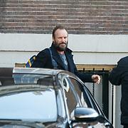 NLD/Amsterdam/20150322 - Sting vertrekt bij zijn hotel voor een optreden,