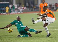 Photo: Steve Bond/Richard Lane Photography.<br />Nigeria v Ivory Coast. Africa Cup of Nations. 21/01/2008. Salomon Kalou (R) scores Ivory Coasts winner